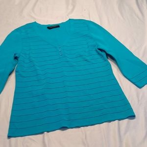 Cable & Guage teal sweater dress top